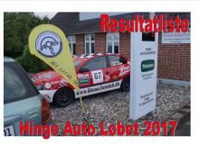 Resultatliste Hinge Auto 2017